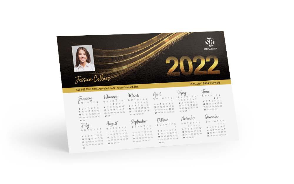 Corefact Calendar 2022 - Black & Gold