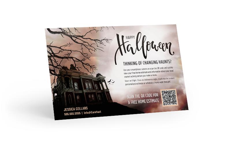 Corefact Seasonal - QR Home Estimate Halloween
