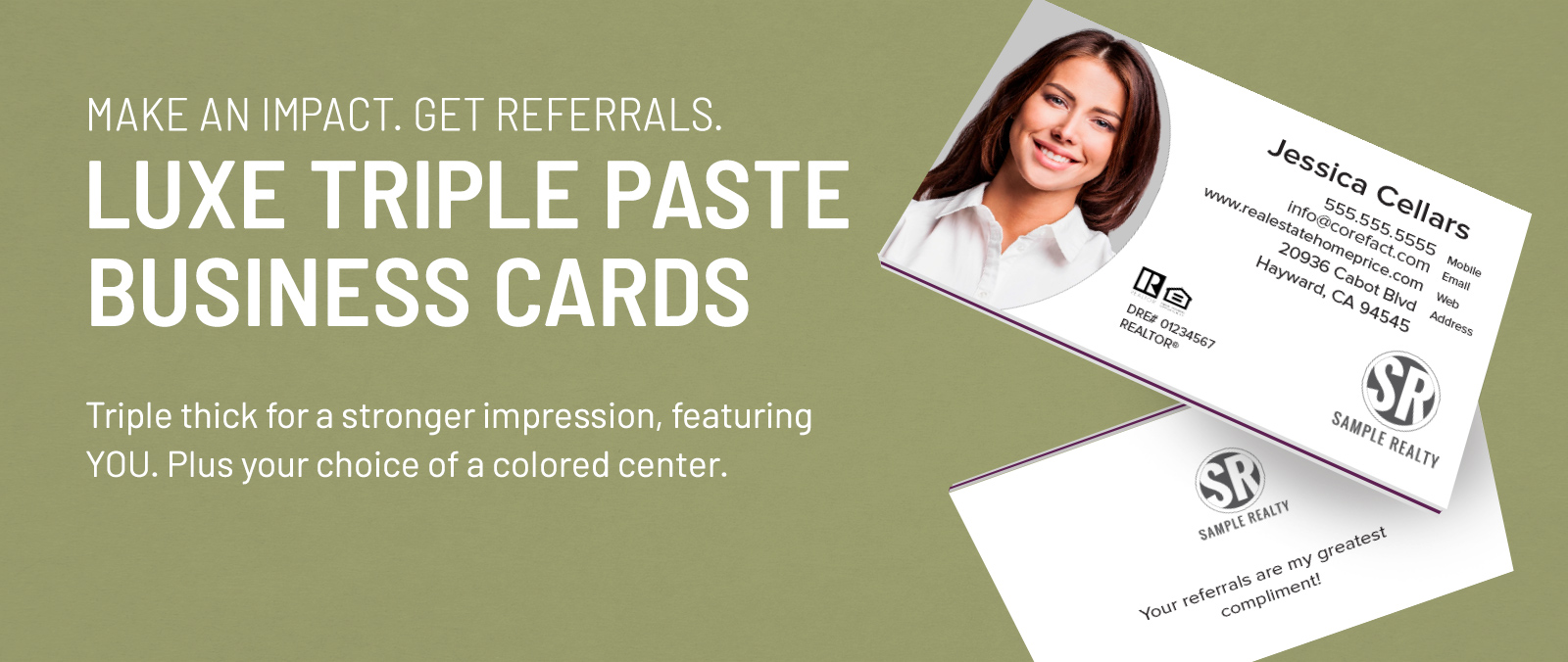 Luxe Business Cards - Triple Paste